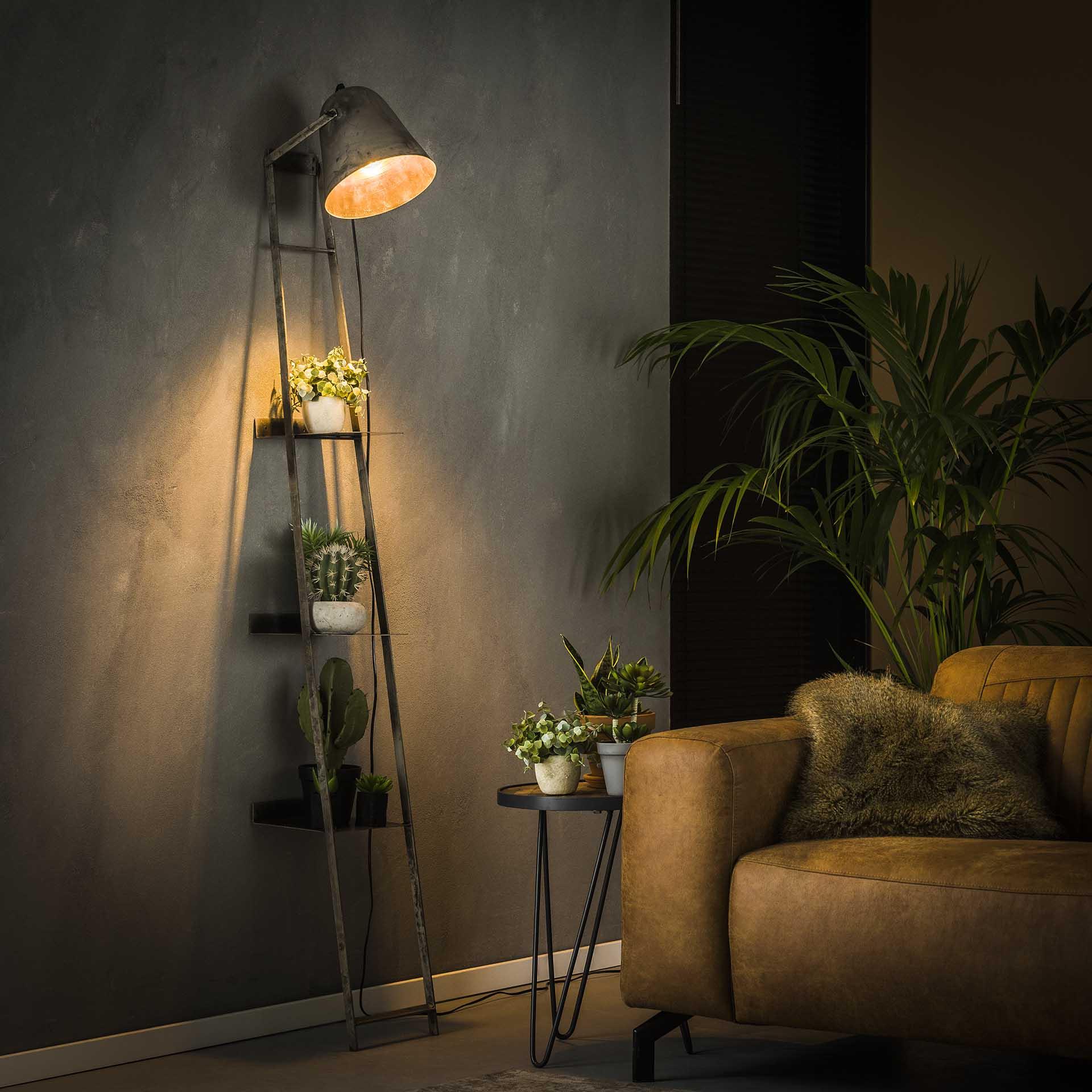 Stehlampe - Vintageshelve - Lampe und/oder Regal