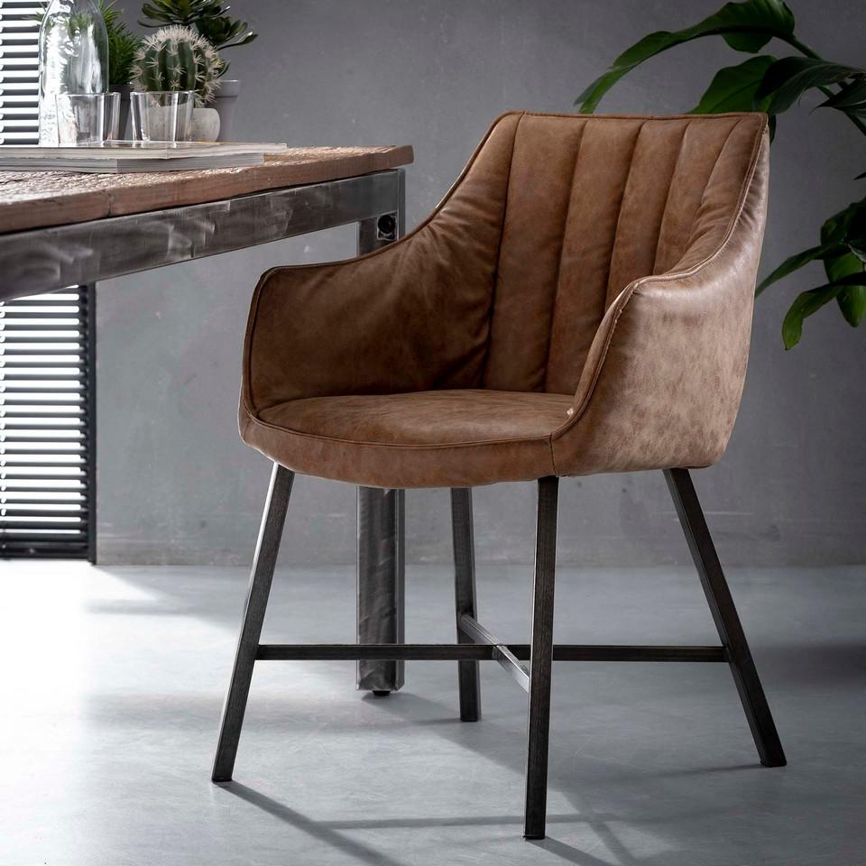 Stuhl X-Cross - Kunstleder - in 3 Farben erhältlich