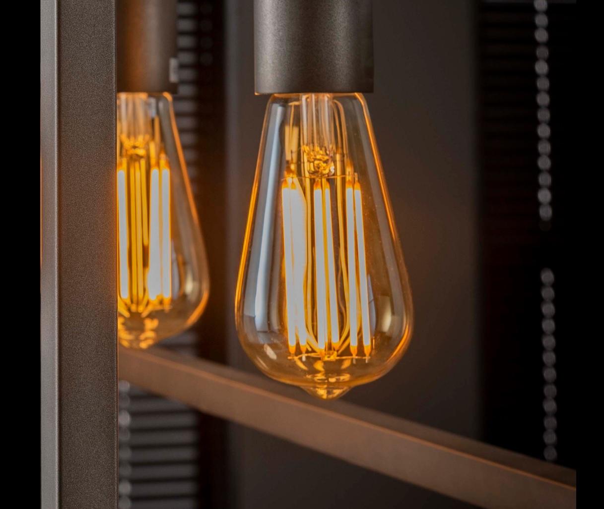 Glühbirne LED Filament Tröpfchen - Braunglas - E27 Fassung