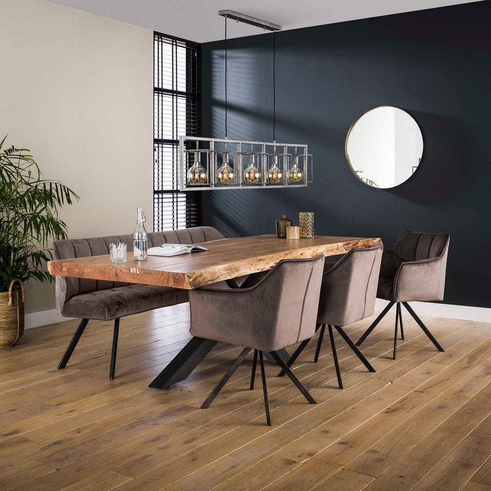 Stuhl Trendy drehbar - Samt - in 4 Farben erhältlich
