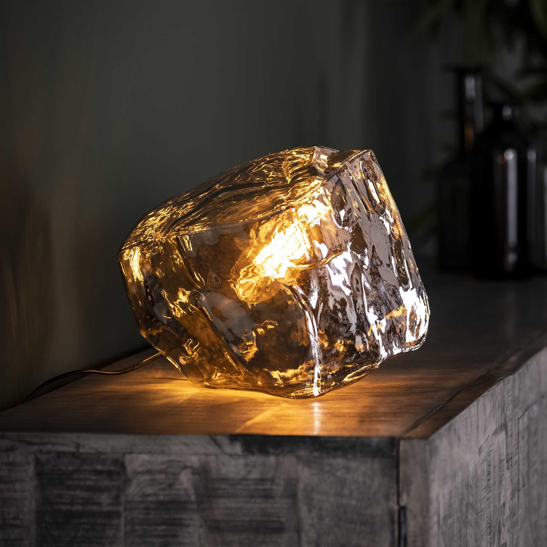 Tischlampe - Ice Cube - mundgeblasen